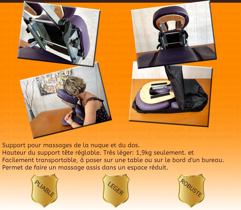 Support Appui-tête de Massage Pectoral de Table